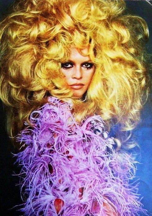 big hair on brigitte bardot