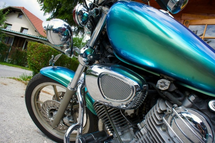 Yamaha Virago freshly painted