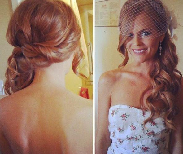 Beautiful wedding hair. Wish my hair was still long!