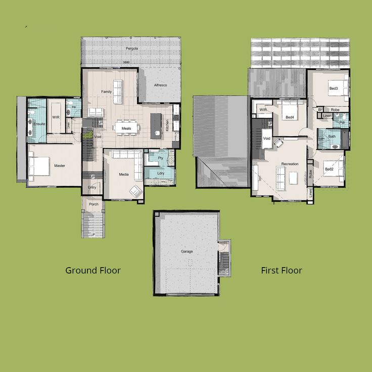 Bobsled Sloping Lot House Plan Custom Home
