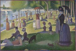Georges Seurat French, 1859-1891 A Sunday on La Grande Jatte — 1884, 1884/86 Oil on canvas Art Institute of Chicago