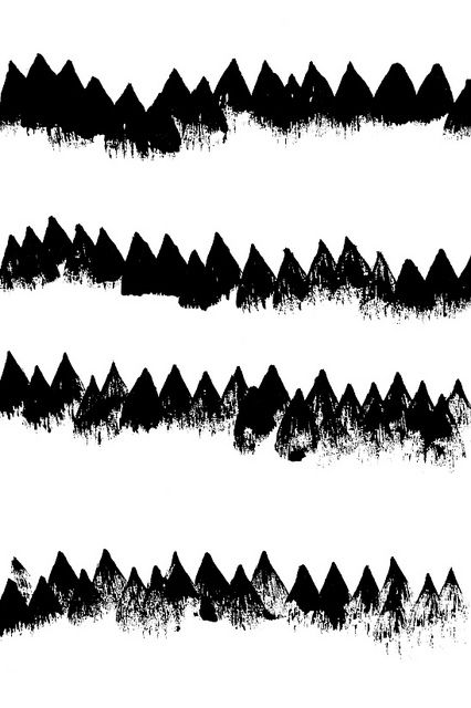 Black & White Winter Trees Abstract | Ashley G