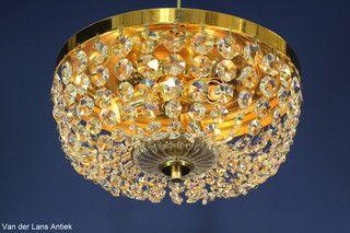 Kristallen plafonniere 18402 Bekijk ook onze antieke kroonluchters op www.lansantiek.com!