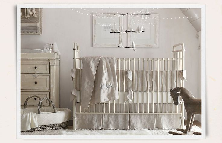 "Rooms | Restoration Hardware Baby & Child @Lindsay Jamison i'm mainly excited because the blanket says ""finley"" :)"