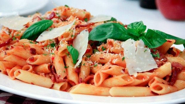 Penne Arrabbiata   Steven and Chris   A lightly-spiced Italian pasta finished with fresh herbs and Parmesan cheese, from In The Kitchen's Stefano Faita.