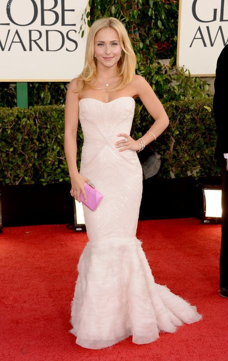 Golden Globes 2013 Red Carpet: Best Dressed : Hayden Panettiere went pink