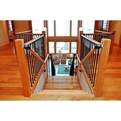 home depot interior stair railings stair simple hemlock axxys 8 ft rail un drilled 23974