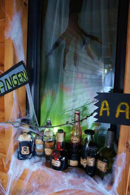 Deco Halloween, witch potions/potions de sorcières