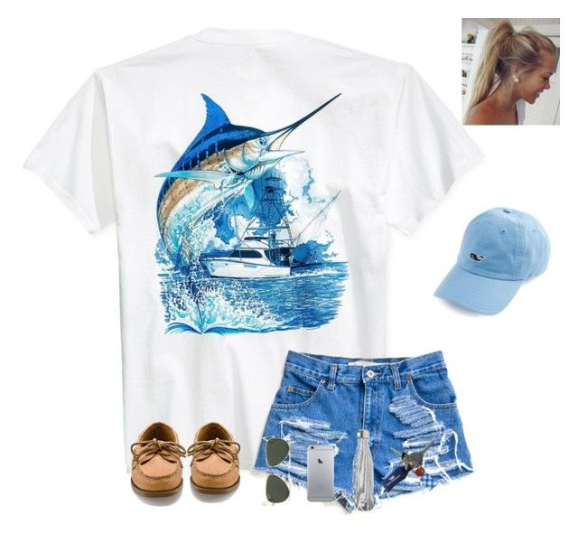 """""""Be the girl that decided to go for it!"""" by prepsandjesus ❤ liked on Polyvore featuring Guy Harvey, Sperry, Ray-Ban, S'well, Cherokee, Vineyard Vines and Avon"""