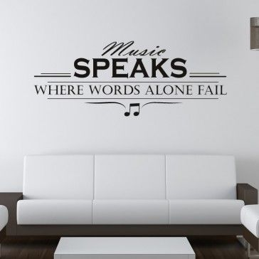 Music Speaks Wall Art Quote Part 82