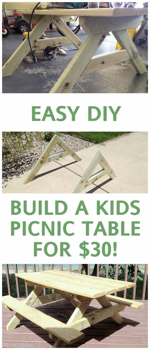 $30 DIY Kids Picnic Table Tutorial