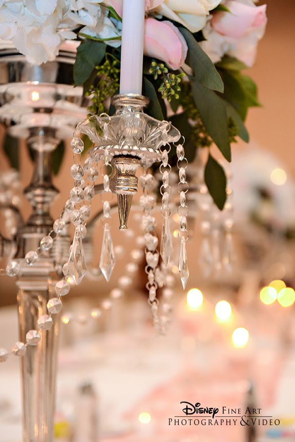 Crystals add instant fairy tale glam to any wedding decor