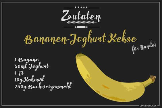 Recipe: Banana yogurt biscuits for dogs