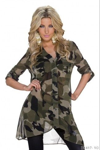 Camouflage ασύμμετρο πουκάμισο - Καμουφλάζ