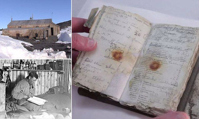 Diary revealed by melting snow a century after Scott's expedition