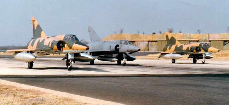 ☆ South African Air Force ✈Elite 2 Squadron - two Mirage IIIRZ's and a Mirage IIIR2Z