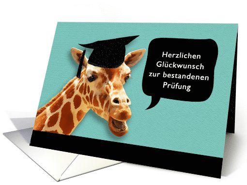 Herzlichen Gl�ckwunsch, Congratulations on graduating, German card