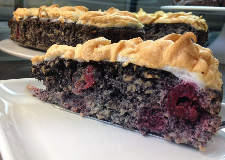 PALEO Meggyes - mákos süti