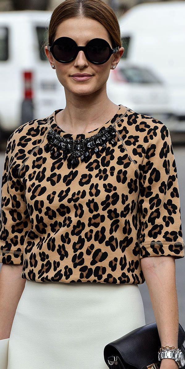 Think out of the box...a leopard blouse and a pencil skirt can also make a nice work look