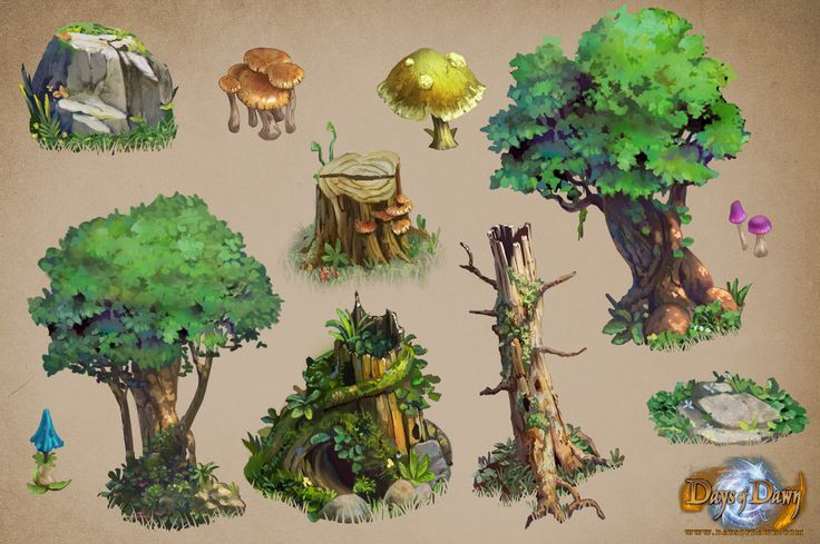 forest asset sample days of dawn by *gamefan84 on deviantART