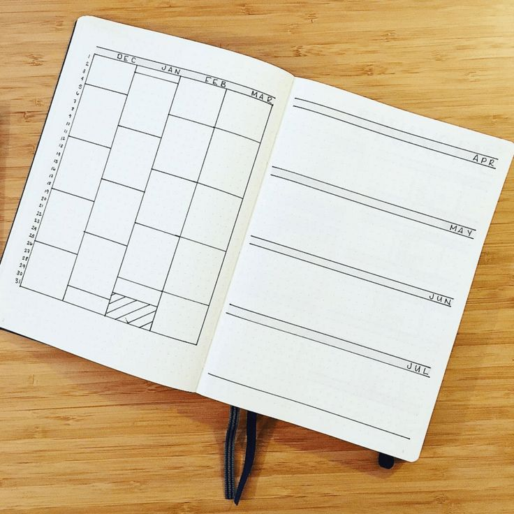 Ryder-Calendex Future Log hybrid for the Bullet Journal by @sunshine.and.stationery