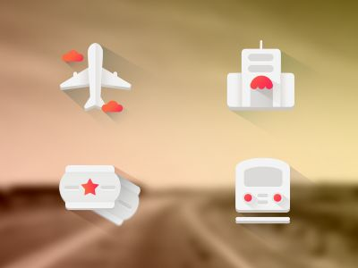 Flat Travel Icon by effyzhang