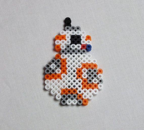 Etsy の BB-8 Star Wars Perler Bead Creation by KaitlansPerlers