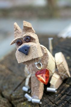 Cork Art dog sculpture clever simple cork sculpture class for 10-12 year olds,learn craft knife skills