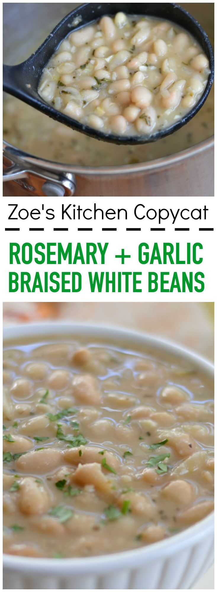 These rosemary and garlic braised white beans will become your new favorite easy side dish.