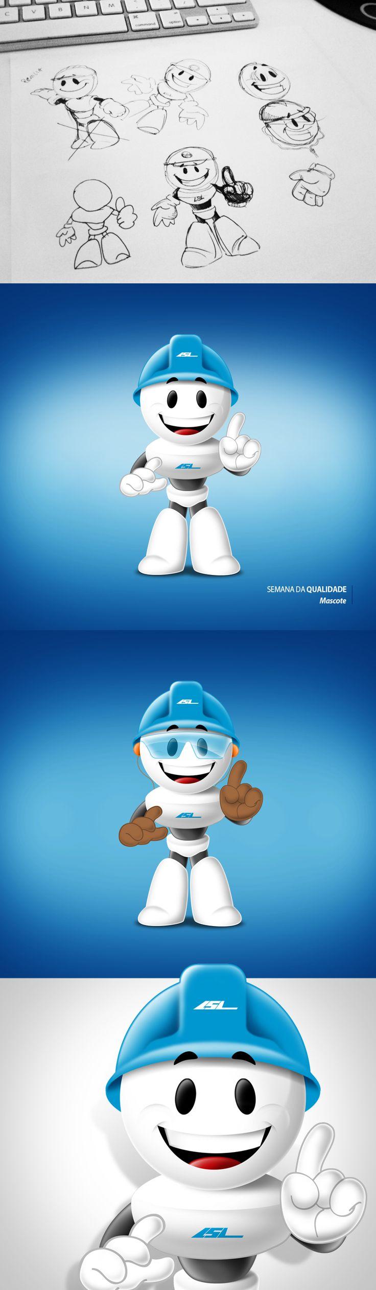 Mascote: Semana da Qualidade LSL Honda Agência: Ciclo Ilustração: Mauricio Oliveira Ano: 2013