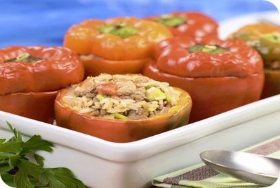 Grieks gevulde paprika's | Gezonde slanke recepten | Flinndal