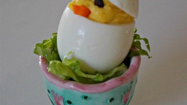 Impress your Easter brunch guests with these adorable 'chick' deviled eggs using…