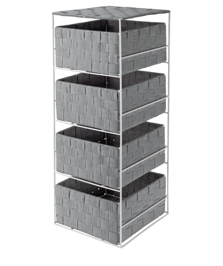 Buy ColourMatch 4 Drawer Storage Unit - Dove Grey at Argos.co.uk - Your Online Shop for Bathroom shelves and units, Bathroom shelves and storage units.