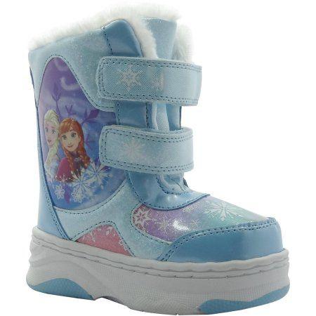Frozen Girl's Toddler Winter Boot, Size: 5, Blue