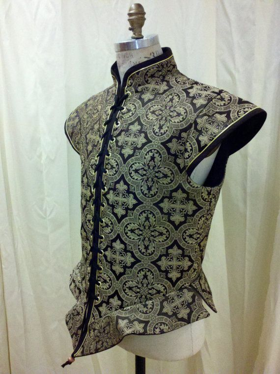 Custom Renaissance Men's Brocade Doublet for faire by silverstah, $135.00