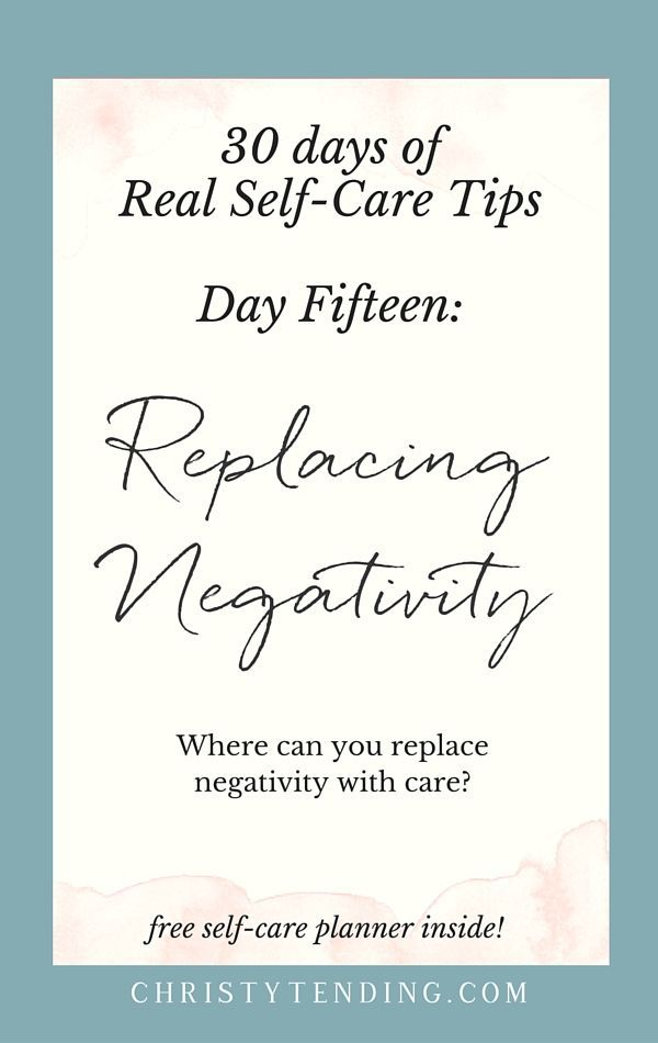 Where can you replace negativity with care? #selfcare #selflove