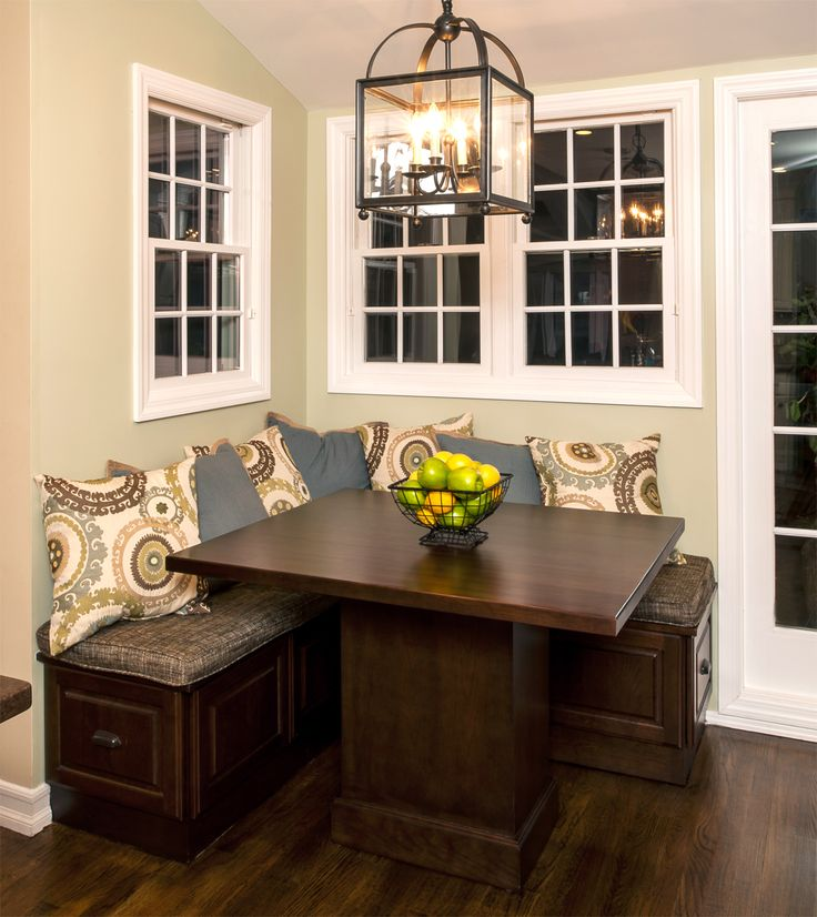 A great way to have the luxury or table seating with minimizing the space it takes is kitchen bench seating.  Bench seating is usually place... #LongIslandKitchen #LongIslandLuxuryKitchen