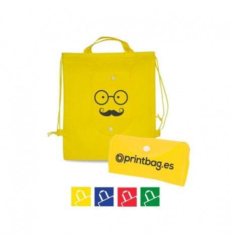 Mochilas para niños plegables para publicidad de empresas, ideales para regalar en acampadas, centros deportivos, fabricadas en poliester, reutilizables.