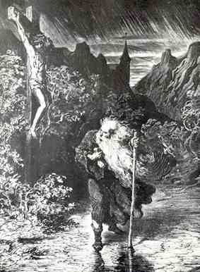 El Judio errante, condenado a vagar inmortalmente  El Judio errante es el protagonista de una leyenda medieval, condenado a vagar -inmortalmente- por la Tierra hasta el fin de los tiempos, etc...