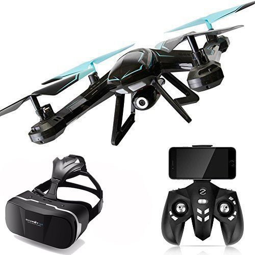 2 MP Camera Drone FPV Wifi Real Time Video & Virtual Reality Glasses Headset VR #Kp