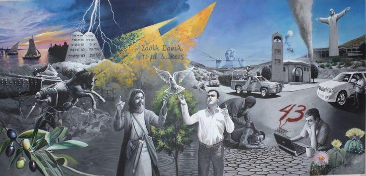 Realiza una alegoría de Pablo de Tarso en mural