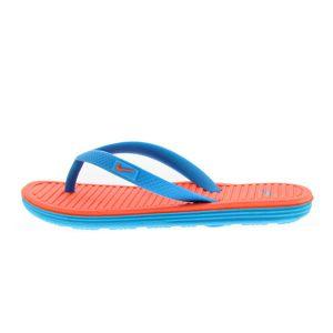 Chanclas niña piscina Nike SolarSoft Thon 2 azul