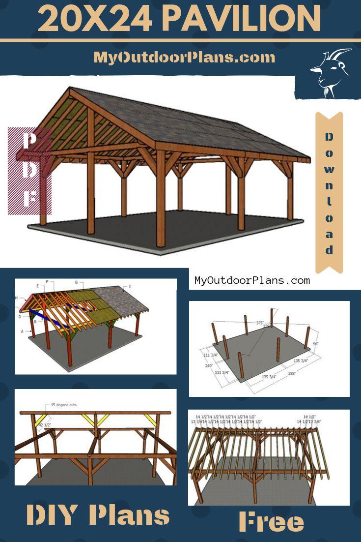 20×24 Pavilion - Free DIY Plans | Backyard pavilion ...
