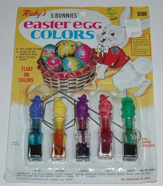29 best Vintage Easter Egg Dye Kits images on Pinterest | Vintage ...