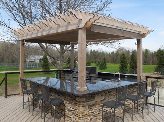 96 best images about steps for backyard hill on pinterest lighting design landscaping and stairs for Outdoor kitchen designs with pergolas