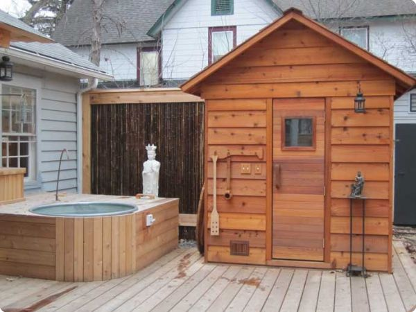Outdoor Sauna Kits Outdoor Sauna At Side Of House Pagoda