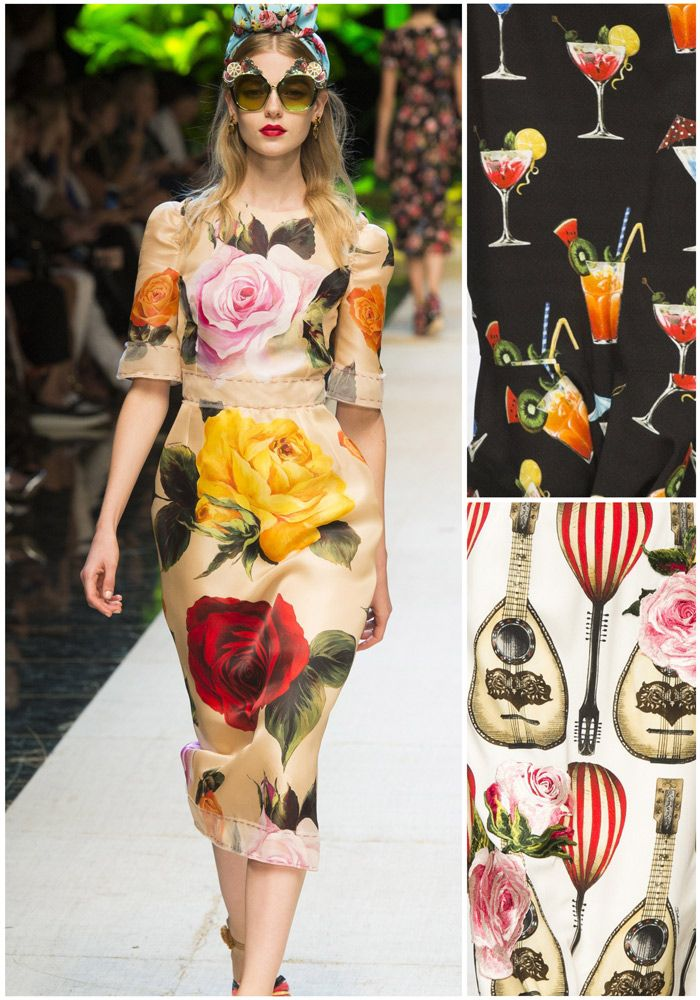 Love these patterns from the Dolce & Gabbana Spring Summer 17 collection during Milan Fashion week.