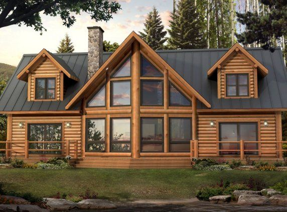 Bonneville homes pre engineered home cabin decorating for Pre engineered houses