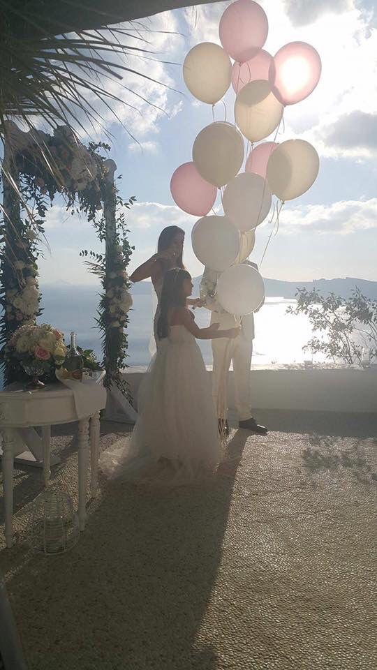 Wedding baloons,Santorini