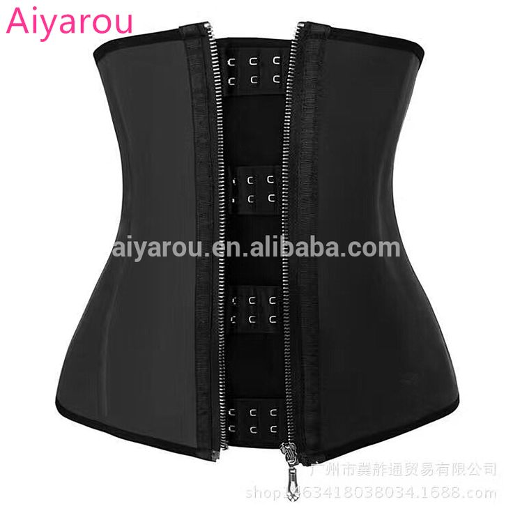 Check out this product on Alibaba.com APP Strong hook cincher sexy strapless corset 7 steel boned latex waist training corset with zip